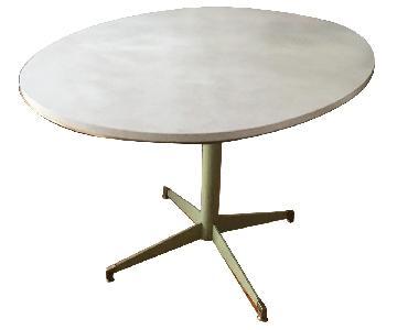 Vintage Breakfast Table w/ Metal Base