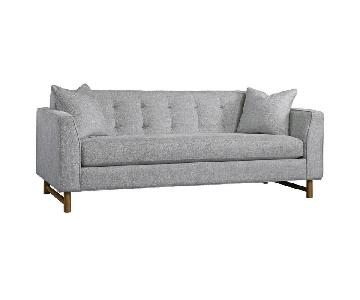 Dwell Studio Edward Sofa in Grey Velvet