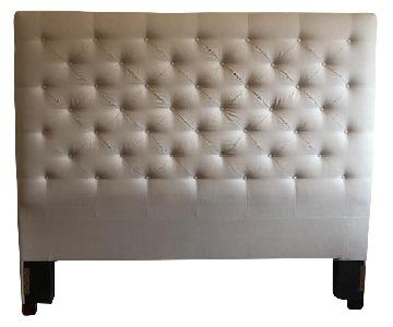 Pottery Barn Lorraine Tall Tufted King Headboard