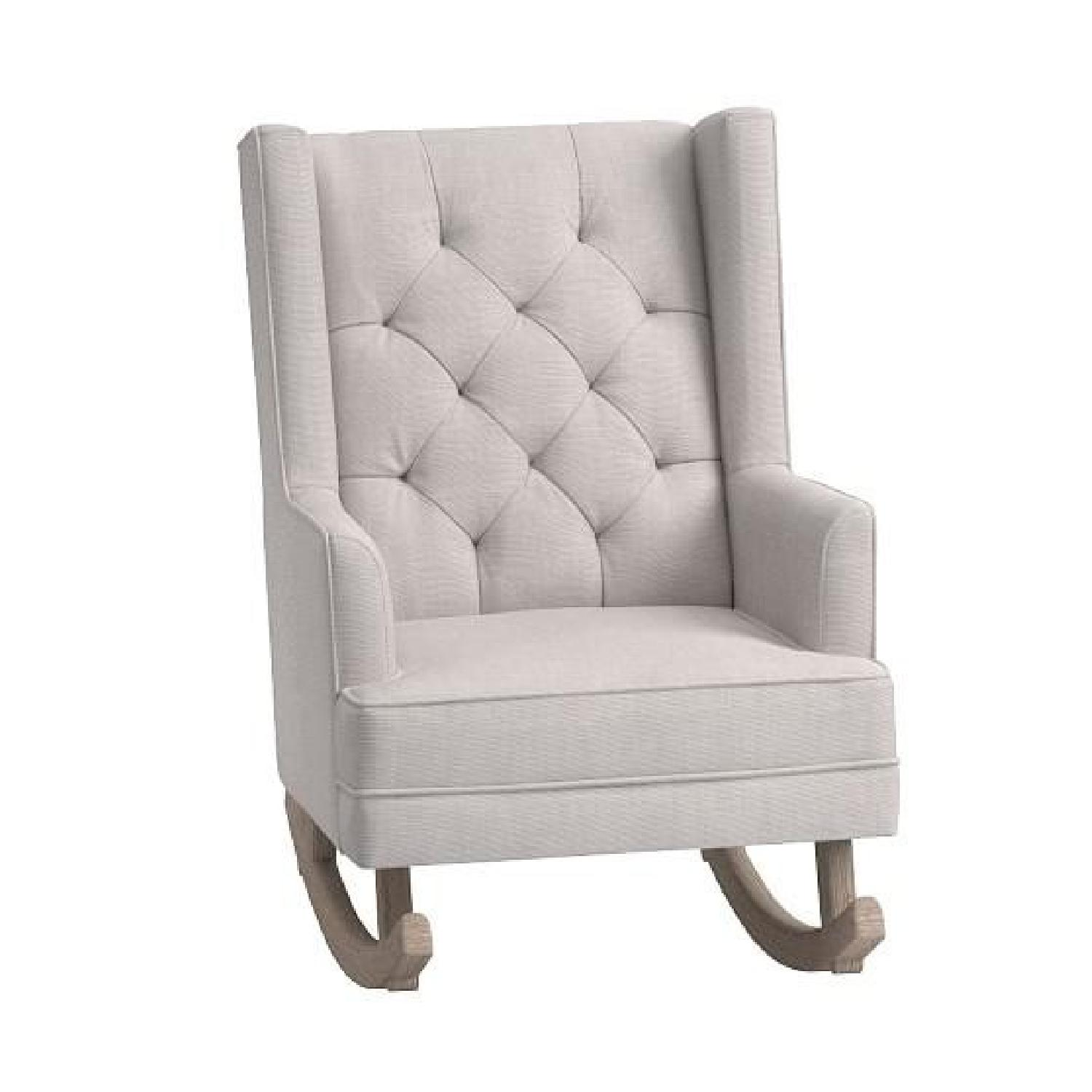 Phenomenal Pottery Barn Kids Tufted Wingback Convertible Rocker Aptdeco Inzonedesignstudio Interior Chair Design Inzonedesignstudiocom