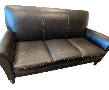 Calia Salotti Italian Leather Sofa + Chair & Ottoman