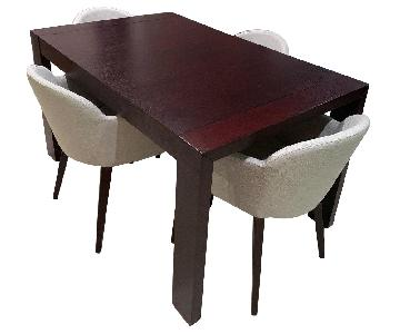 Calligari Expandable Wood Dining Table w/ 4 Italian Chairs