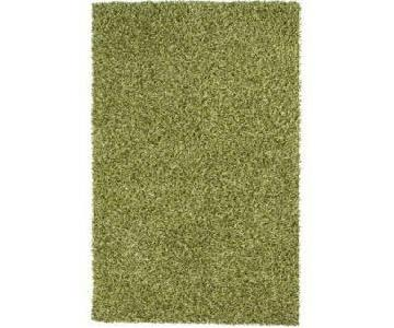 CB2 Green Area Shag Rug
