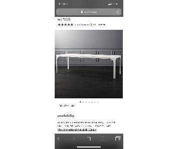 CB2 White Dining Table