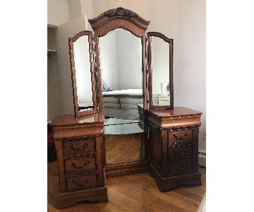 Antique Style Vanity Table w/ Bench