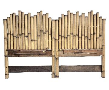 Vintage Bamboo Boho 2-Piece King Size Headboard