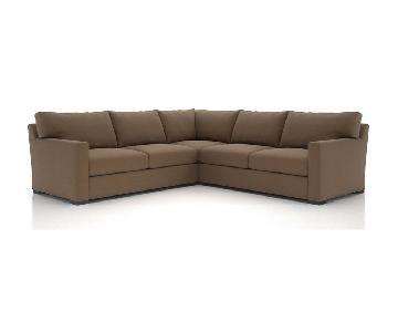 Crate & Barrel Axis II 3-Piece Sectional Sofa