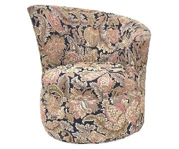 Modern Paisley Swivel Lounge Chairs
