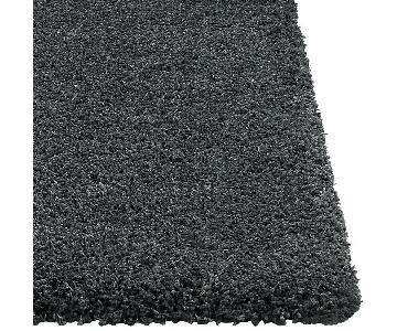 Crate & Barrel Grey Steel Wool Blend Rug