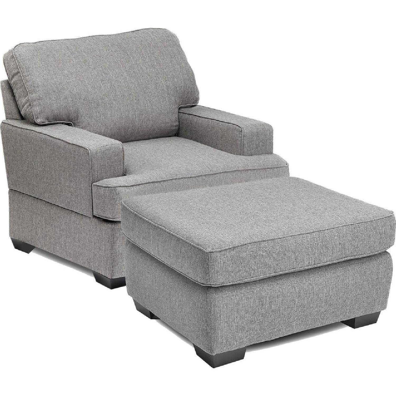 Peachy Jennifer Convertibles Devlin Fabric Sofa Chair Ottoman Machost Co Dining Chair Design Ideas Machostcouk