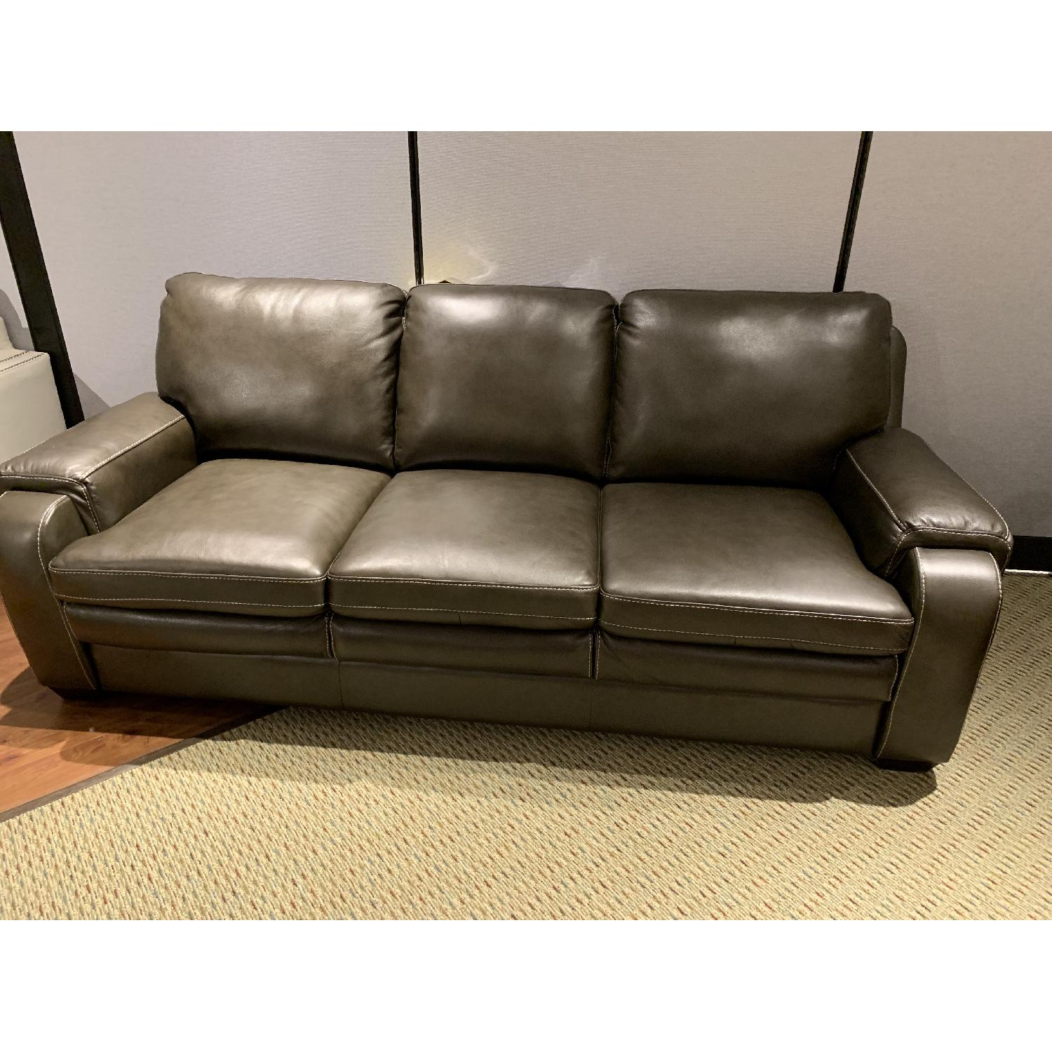 Jennifer Convertibles Matera Leather Match Sofa-0