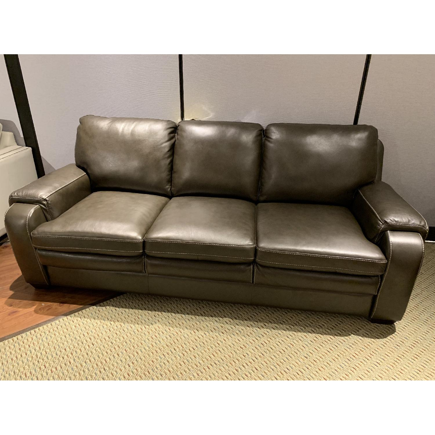 Jennifer Convertibles Matera Leather Match Sofa-1
