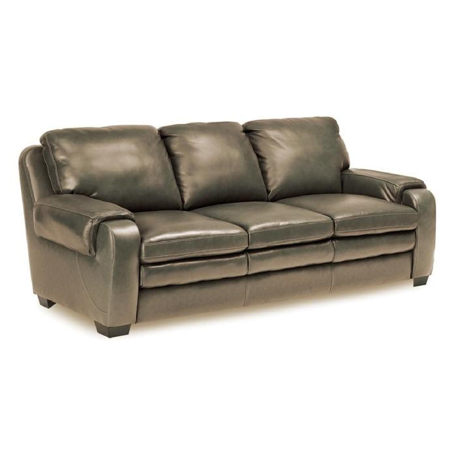 Jennifer Convertibles Matera Leather Match Sofa - AptDeco
