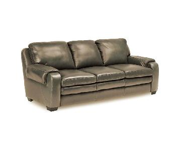 Jennifer Convertibles Matera Leather Match Sofa