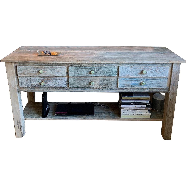 Arhaus 6-Drawer Wood Sideboard