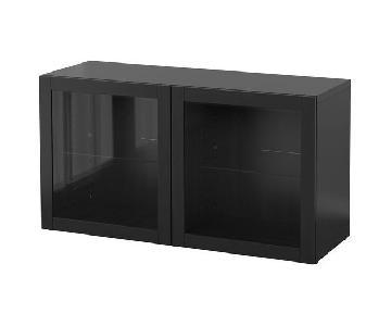 Ikea Besta Shelf Unit w/ Glass Doors