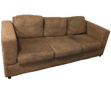 Jennifer Convertibles Beige 3 Seater Sofa