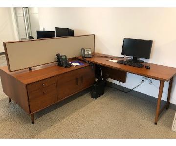 West Elm Mid-Century Benching Desk