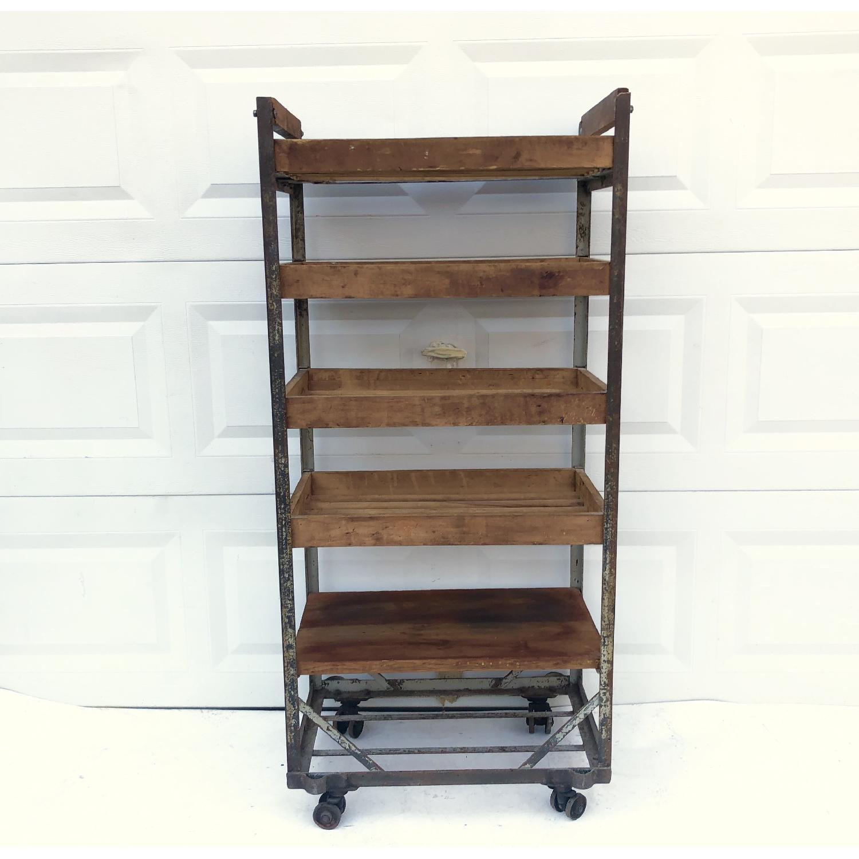 Vintage Industrial Bakers Rack Shelf-0