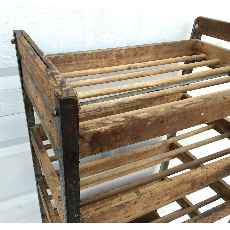 Vintage Industrial Bakers Rack Shelf-2