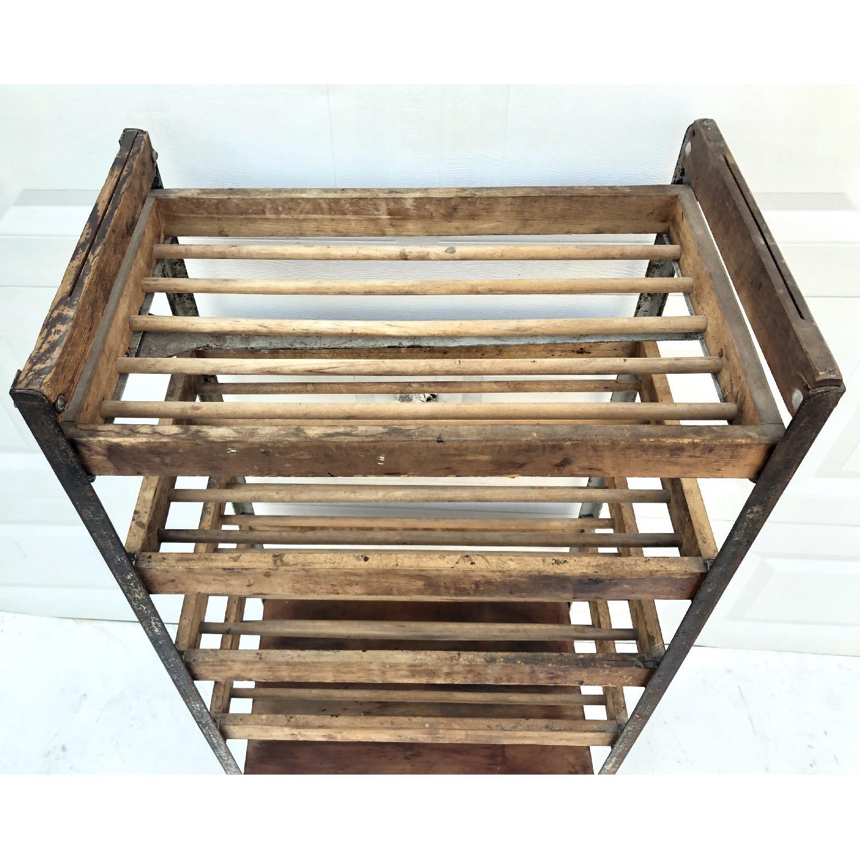 Vintage Industrial Bakers Rack Shelf-3