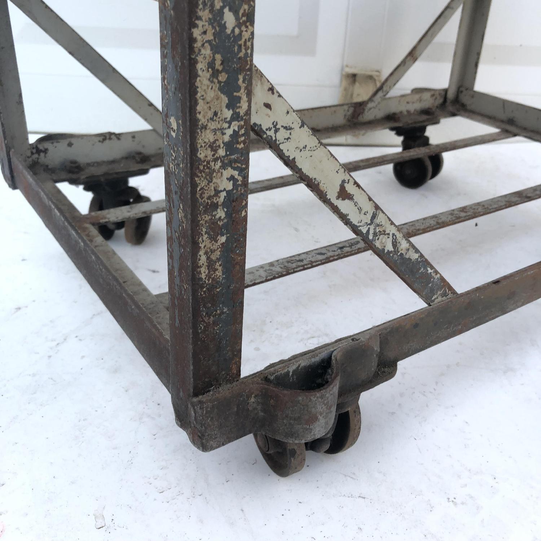 Vintage Industrial Bakers Rack Shelf-4