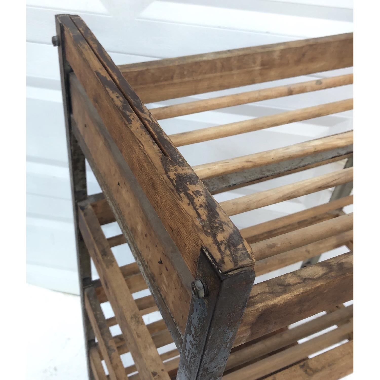 Vintage Industrial Bakers Rack Shelf-5