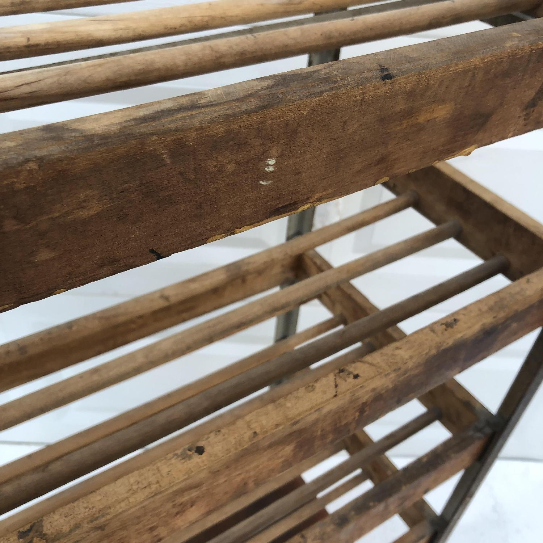 Vintage Industrial Bakers Rack Shelf-6