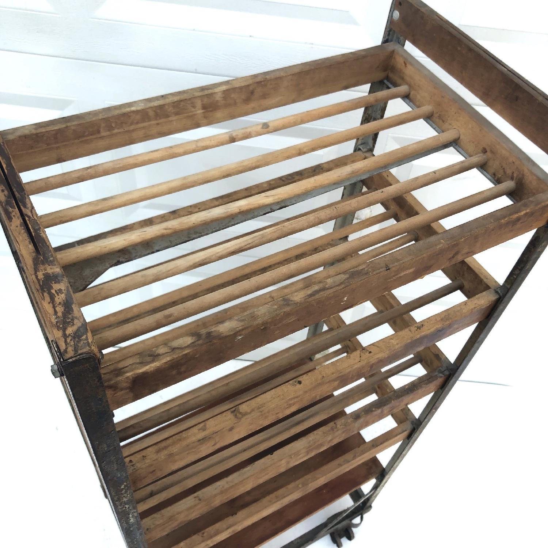 Vintage Industrial Bakers Rack Shelf-7