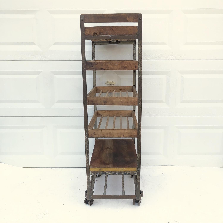 Vintage Industrial Bakers Rack Shelf-9