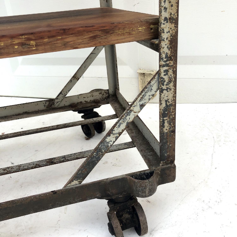 Vintage Industrial Bakers Rack Shelf-11