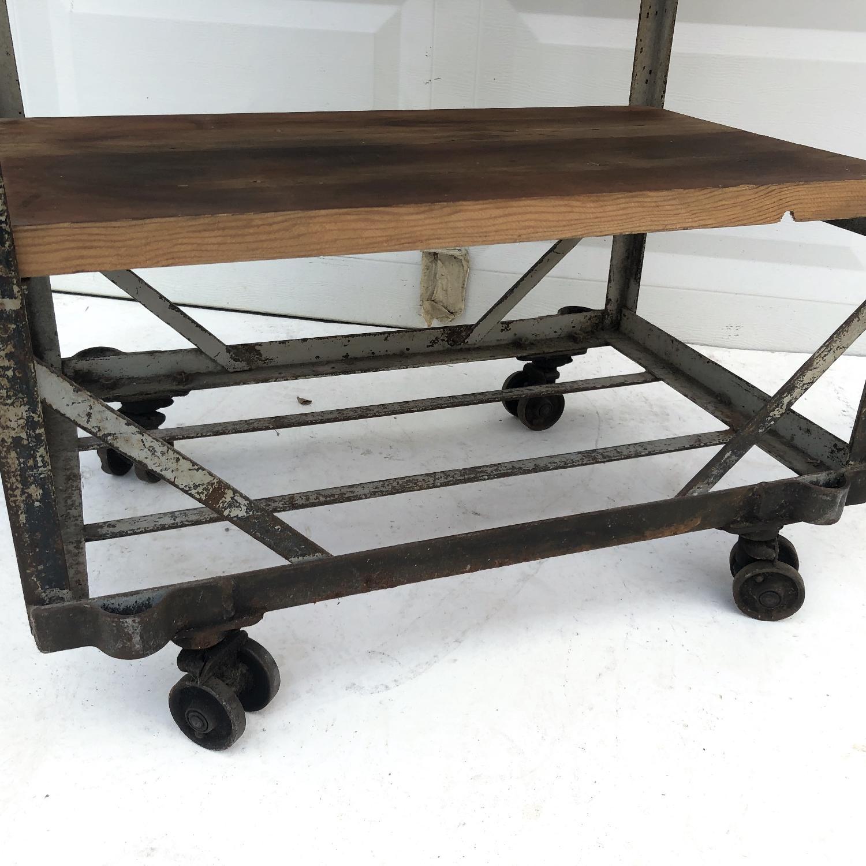 Vintage Industrial Bakers Rack Shelf-13