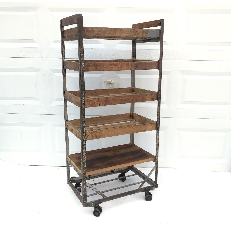 Vintage Industrial Bakers Rack Shelf-14