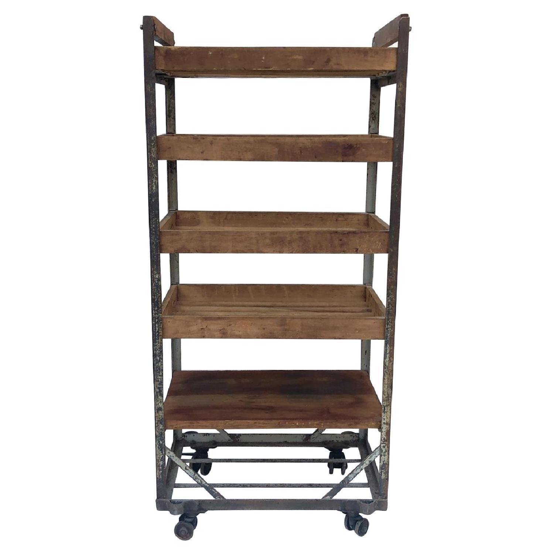 Vintage Industrial Bakers Rack Shelf