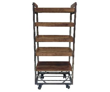 Vintage Industrial Bakers Rack Shelf