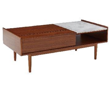 West Elm Mid Century Pop-Up Storage Coffee Table