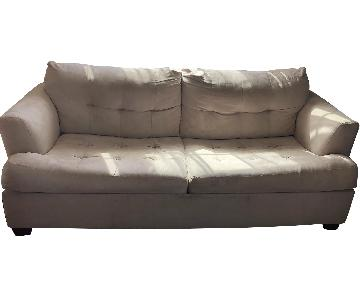 Jennifer Convertibles Suede Sleeper Sofa