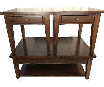 American of Martinsville Wood Coffee Table + 2 End Tables