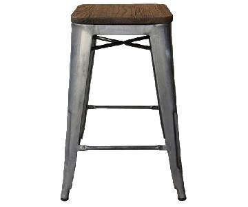 Target Industrial Wood Top Counter Stools