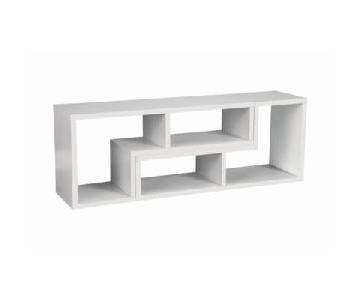 White 2 L-Sahped TV Console