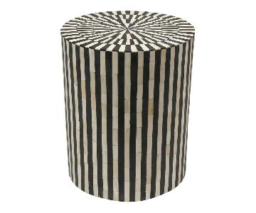 Anthropologie Rounded Inlay Side Table