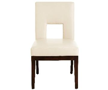 Pier 1 Ivory Faux Leather Dining Chairs