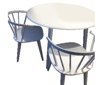Florence White Dining Table w/ 2 Chairs