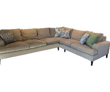 Kravet 2-Piece Custom Sectional Sofa