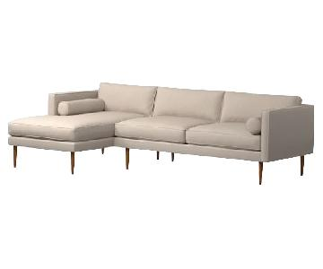 West Elm Monroe Mid Century Sectional Sofa