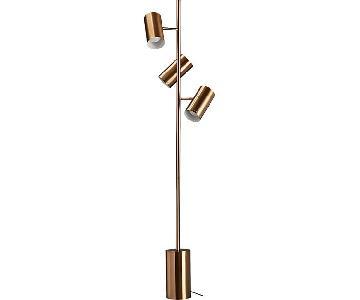CB2 Trio Gold Floor Lamp