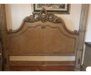 Wood King Bed Frame w/ Headboard