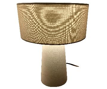 Crate & Barrel Fabric Table Lamp