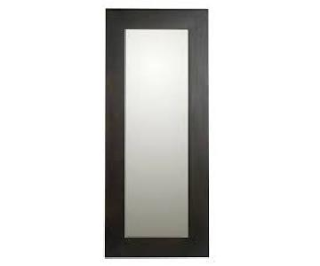 West Elm Wood Leaning Floor Mirror
