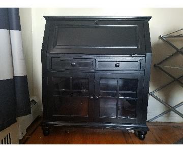 Hillsdale Furniture Black Secretary Desk